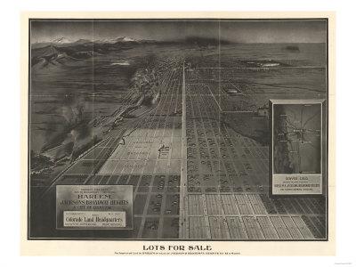 Colorado - Panoramic Map of Denver No. 4 Prints by  Lantern Press