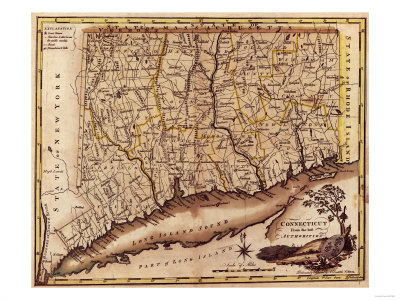 Connecticut - Panoramic Map Prints by  Lantern Press