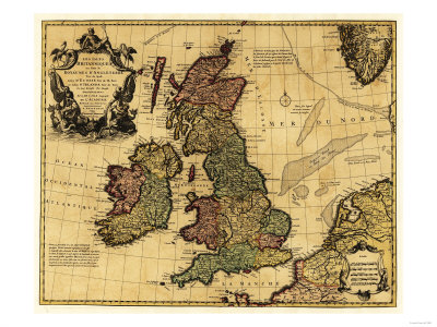 Great Britain - Panoramic Map Art Print