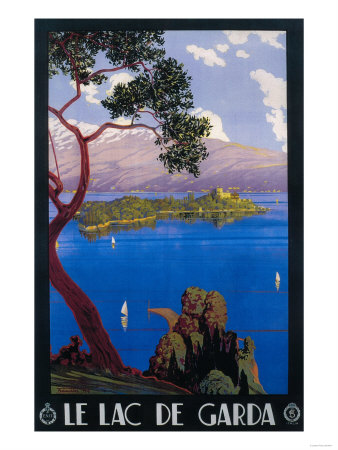 Italy - Lake Garda Travel Promotional Poster Konsttryck