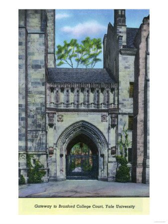 New Haven, Connecticut - Yale University Gateway to Branford College Court View Posters by  Lantern Press