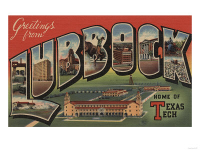 Lubbock, Texas - Texas Tech Posters by  Lantern Press