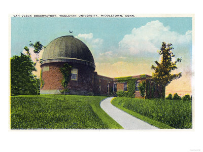 Middletown, Connecticut - Exterior View of Van Vleck Observatory, Wesleyan U Posters by  Lantern Press