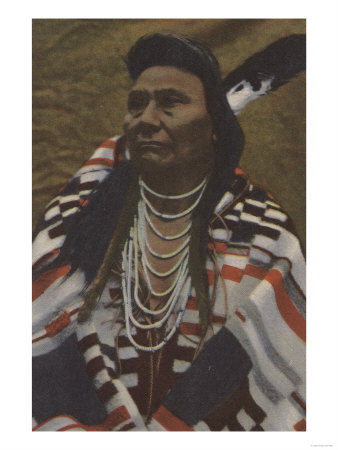 Northwest Indians - Chief Joseph of the Nez Perces Tribe Art Print