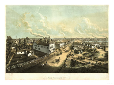 Oshkosh, Wisconsin - Panoramic Map Posters by  Lantern Press
