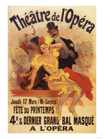 Paris, France - 4th Masked Ball at Theatre de l'Opera Promotional Poster Art Print