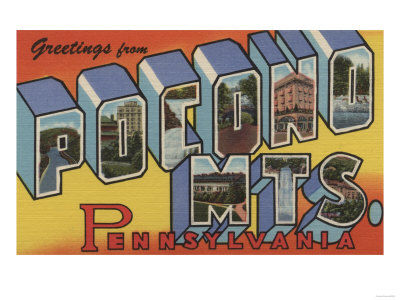 Pennsylvania - Pocono Mountains Poster by  Lantern Press