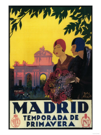 Madrid, Spain - Madrid in Springtime Travel Promotional Poster Print by  Lantern Press