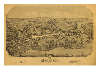 Madison, Connecticut - Panoramic Map Posters by  Lantern Press