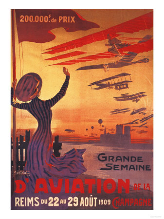 Champagne, France - Great Week of Aviation Posters by  Lantern Press