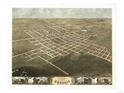 Sedalia, Missouri - Panoramic Map Posters by  Lantern Press