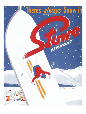 Stowe, Vermont - Sweeping S Posters by  Lantern Press