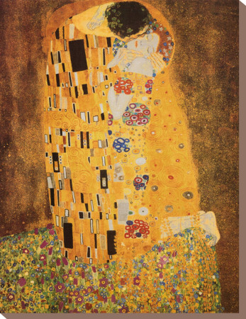 The Kiss, c.1907 Stretched Canvas Print by Gustav Klimt