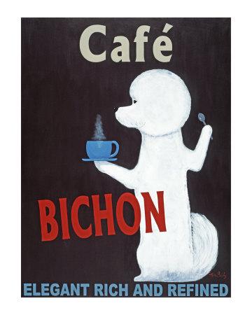 Bichon Cafe Collectable Print by Ken Bailey