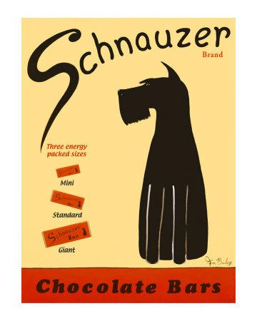 Schnauzer Bars Collectable Print by Ken Bailey