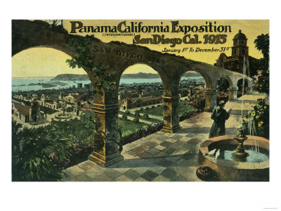 View of City from a Mission, Panama-CA Expo - San Diego, CA Posters by  Lantern Press