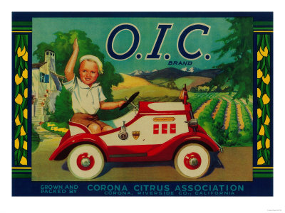 O.I.C. Lemon Label - Corona, CA Posters by  Lantern Press