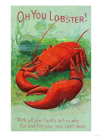 Oh You Lobster Scene Reproduction d'art