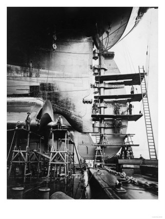 Ship Construction in Germany Photograph - Hamburg, Germany Posters by  Lantern Press