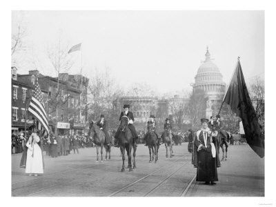 The Head of the Women's Suffrage Parade Photograph - Washington, DC Prints by  Lantern Press