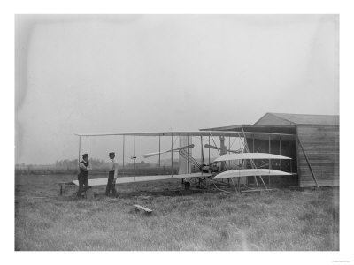 Wilbur & Orville Wright in 2nd powered machine Photograph - Dayton, OH Lmina