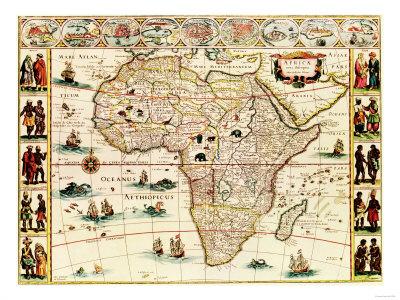 Afrika - panoramakort Kunsttryk