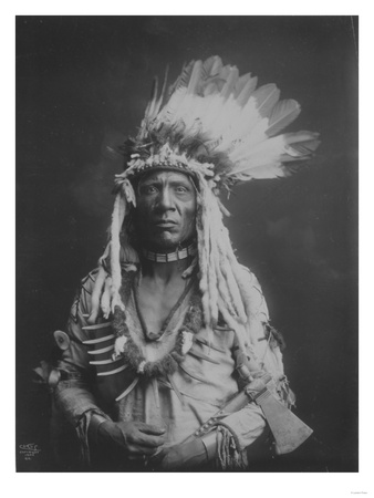 Weasel Tail Piegan Indian Native American Curtis Photograph Láminas por  Lantern Press