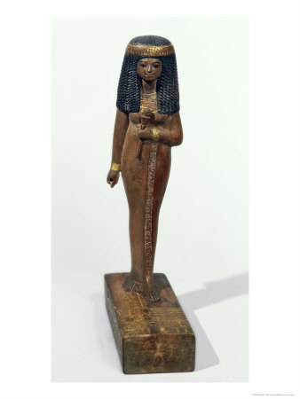 Statue of the Lady Nay, New Kingdom Giclee Print by  Egyptian 18th Dynasty
