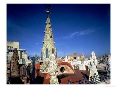 View of the Upper Flat Roof of the Palace, 1885-89 Giclee Print by Antoni Gaudí