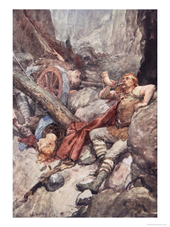 Once More Roland Blew His Ivory Horn, Plate from The Story of France, 1920 Giclee Print by William Rainey