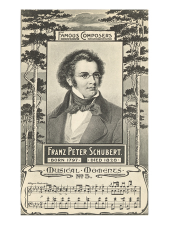 Franz Schubert and Music Poster
