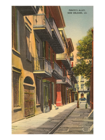 Pirates' Alley, New Orleans, Louisiana Poster