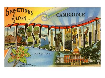 Greetings from Cambridge, Massachusetts Art