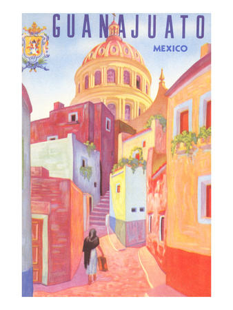 Poster for Guanajuato, Mexico, Colonial Streets Print