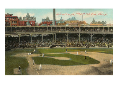 National League, Cubs Ball Park, Chicago Posters