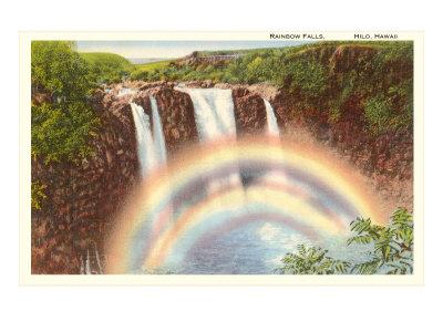 Rainbow Falls, Hilo, Hawaii Poster
