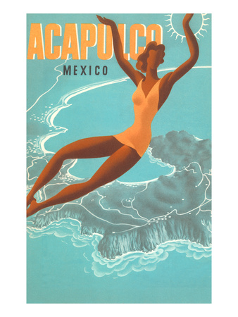 Acapulco, Mexico: Woman and Water Prints