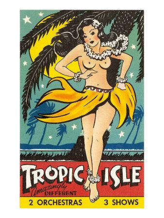 Tropical Girl Pin Up Prints