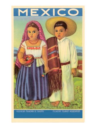 Mexico: Two Peasant Children Prints
