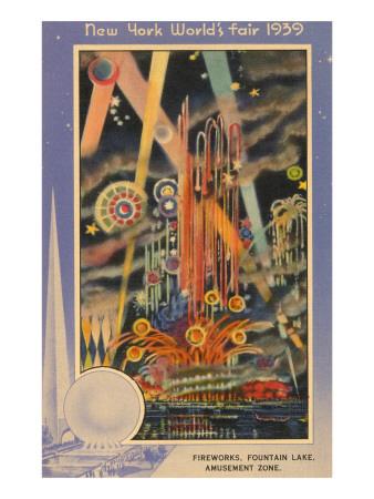 Fireworks, New York World's Fair, 1939 Póster