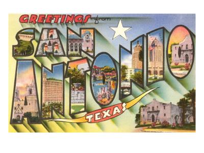 Greetings from San Antonio, Texas Poster