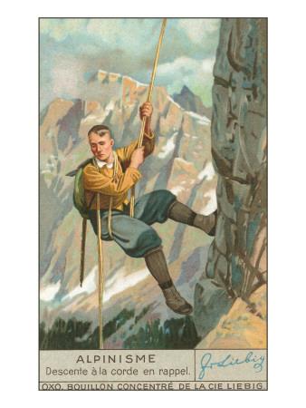 Rappel Rock Climbing Posters