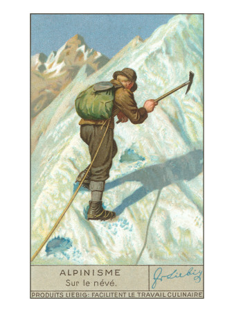 Mountain Climbing on Snow Posters