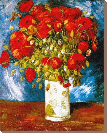 Poppies, c.1886 Stretched Canvas Print by Vincent van Gogh