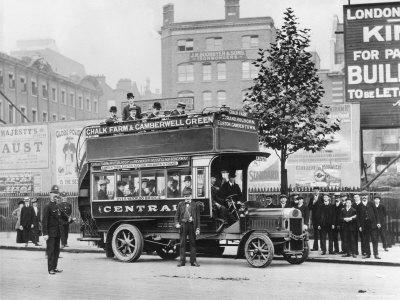 1908 Leyland London Bus Photographic Print