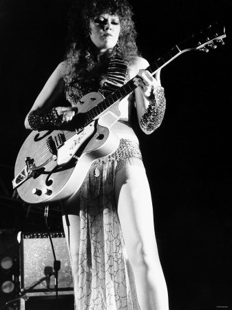 Poison Ivy Rorschach Guitarist Pop Group the Cramps 1986 Photographic Print