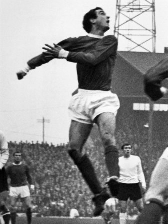 Manchester United V Sunderland. Manchester United's John Aston. c.1965 Photographie