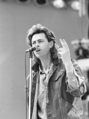 Bob Geldof Performing at the Live Aid Concert July 1985 at Wembley Fotografie-Druck