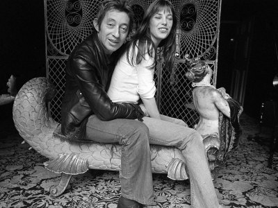Jane Birkin and Serge Gainsbourg May 1972 at Their Paris Luxury Home Photographic Print