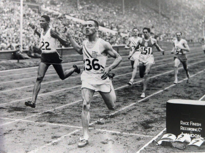 1948 Olympic Games the Finish of the 100 Meter Sprint at the London Olympic Games Photographic Print